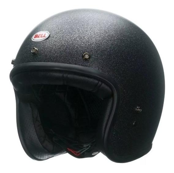 Capacete Bell Custom 500 Solid Black Flake