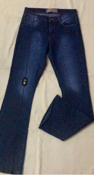 Pantalon Mujer Tiro Alto Jean Palazo Talle 40