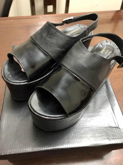 Zapatos Negros De Plataforma