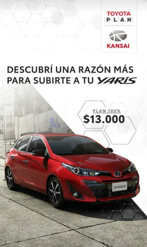 Plan De Ahorro Toyota Yaris Xs 100%