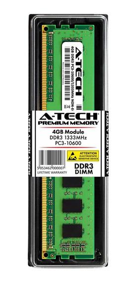 Memoria Ram 4gb A-tech Ddr3 1333mhz Pc3-10600 ( ( Oferta )