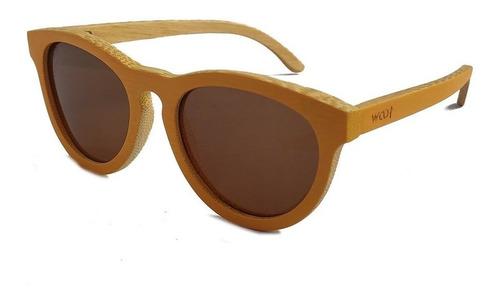 Gafas  Anteojos Sol 100% Madera Woot8 - Yellow Bamboo