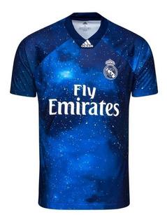 Nova Camisa Real Madrid Ea Sports Azul 2019 Promoção