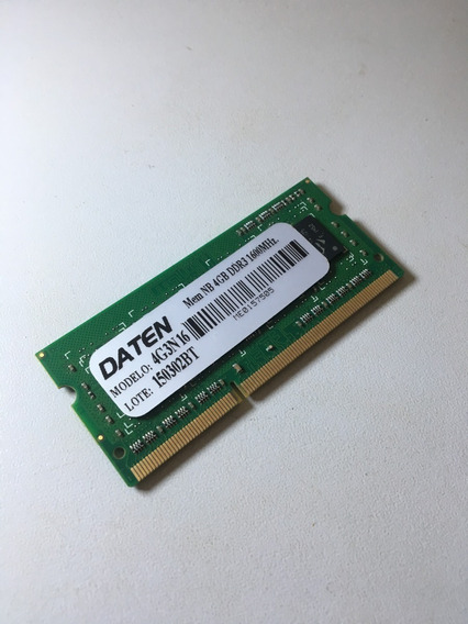 Memória Daten 4g3n16 4gb Ddr3 Pc3 12800s 1333mhz