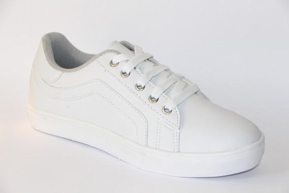 Sapatênis Tênis Feminino Casual - Klimer Leve 0259 Branco