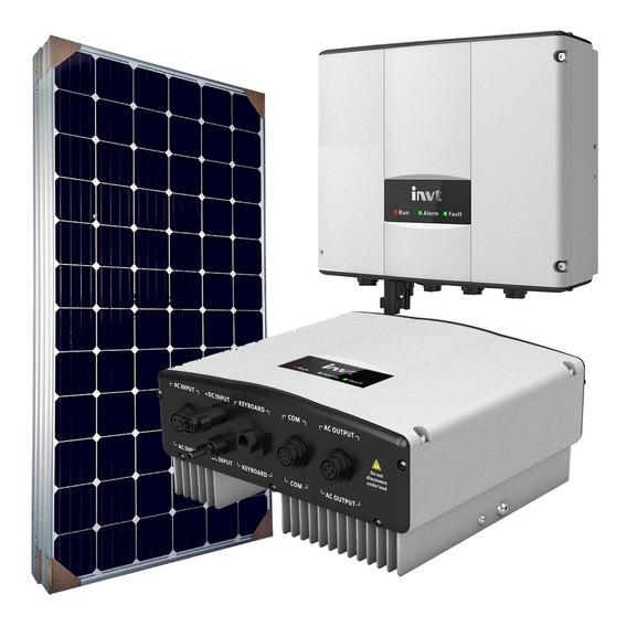 Kit Solar Para Bomba Sumergible O Motor 2hp Paneles 330watts