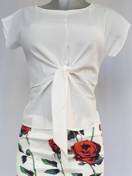 Blusa Anudada Blanca