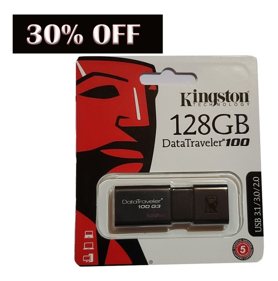 Pen Drive 128gb Kingston Dt100g3/128gb Usb Original