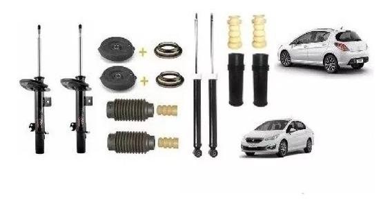 Amortecedor Dianteiro E Traseiro C/ Kit Peugeot 308 408 Tds