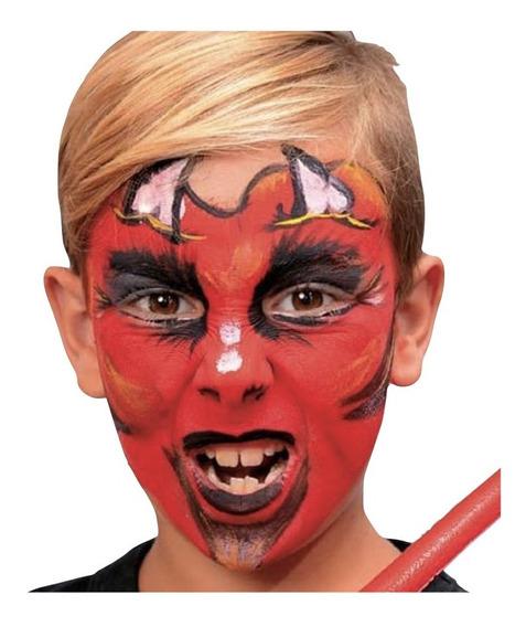 Maquillaje Terror Tela Araña Halloween Stencil Bco Neg Nene