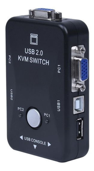 Switch Kvm 2 Puertos Usb Vga