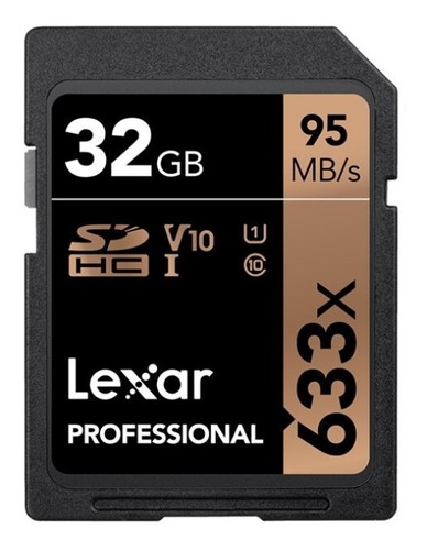 Memoria Lexar Sd Profesional 32gb 633x 95mb/s 1080p 3d
