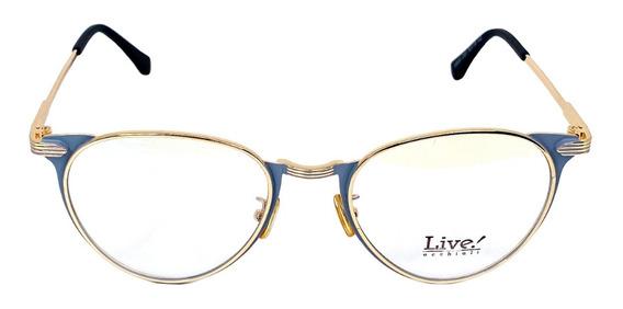Óculos De Grau Los Roques Gray/gold