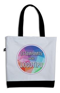 Ecobag Bi-color C/ Estampa Inclusa - Fechamento Em Zíper