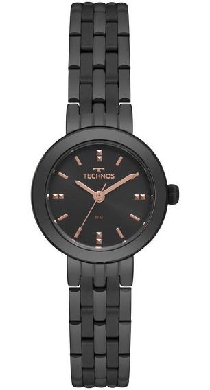 Relógio Feminino Technos Boutique 2035mqn/4p 26mm Aço Preto
