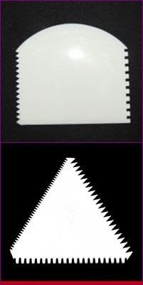 Espátula Plastico 4 Funçoes / Faces + Espatula Triângulo