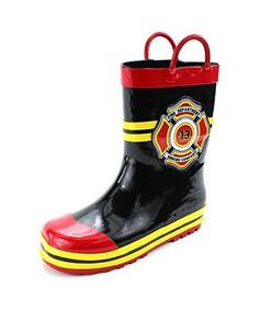 f0d3f312 Botas De Lluvia Estilo Traje De Bombero Fireman Kids (7 /