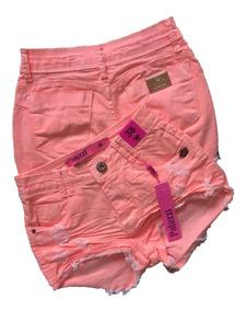 Shorts Jeans Feminino Palazzi Neon Lycra 2019 Envio Imediato