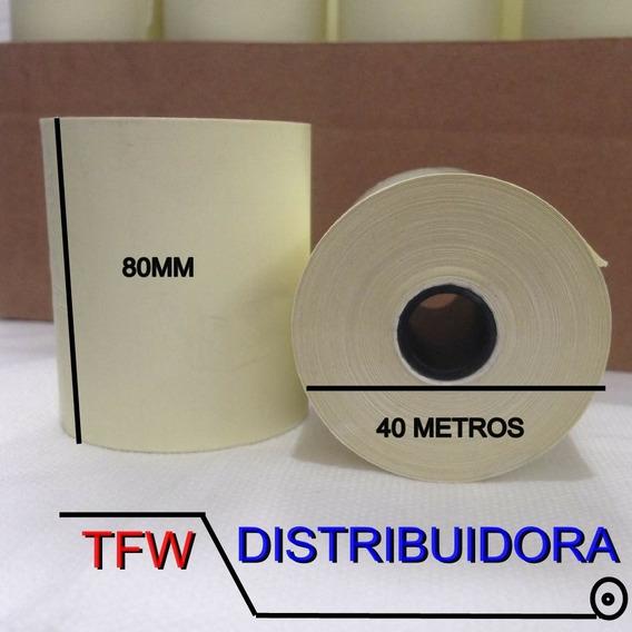 Bobina Térmica Amarela 80 Mm X 40 Metros 60 Uni.