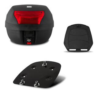 Baú Moto 28 Litros Pro Tork + Suporte Base Xtz Crosser 150