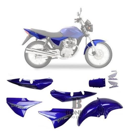 Kit Carenagem Cg 150 Es Titan 2008 Es 08 Azul C - Adesivo