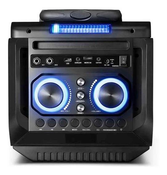 Caixa De Som Speaker Bluetooth 150w Rms + Microfone Preto Mu