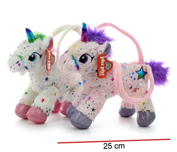 Cartera Infantil Peluche, Unicornio (25 Cm) Tienda Drowse!