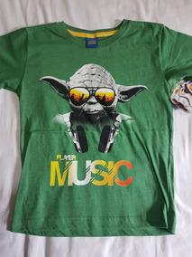 Playera Star Wars Yoda Player Music Niño Original