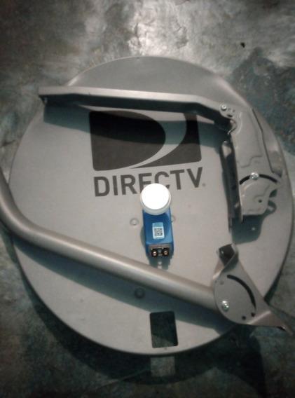 Antena Directv Nueva,lente O Lnb Hd Azul Hd Dual Coaxial29$
