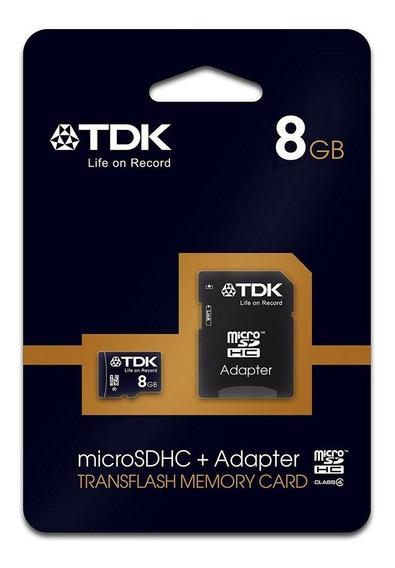 Cartão De Memória Micro Sd 8gb Tdk Classe 4