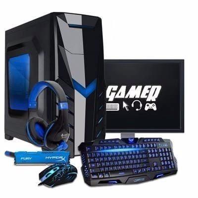 Pc Gamer I5-7400, 8gb Ddr4, Gtx 1050 Ti, Kit Gamer 2 Monitor