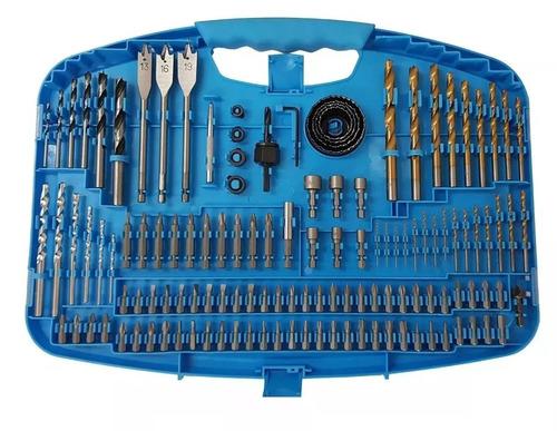 Imagem 1 de 2 de Kit De Bits Brocas E Serra Copo C/ 129 Pçs G19517ac Gamma