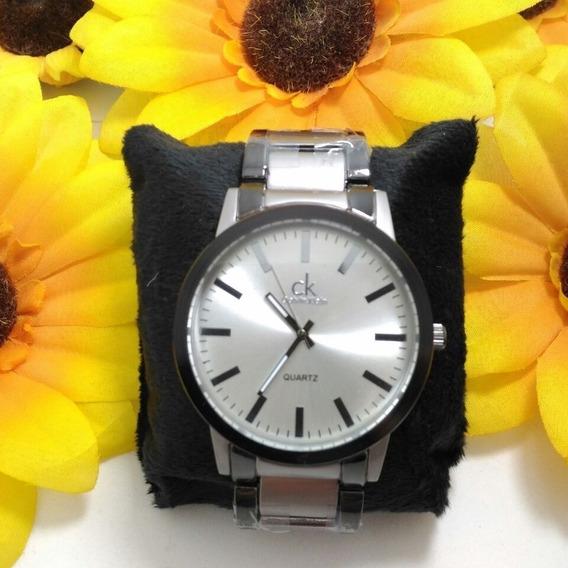 Relógio Masculino Estilo Calvin Klein Todo Em Aço.