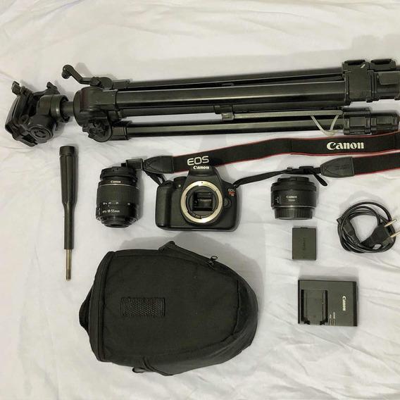 Câmera Canon T5 + 2 Lentes E Tripé