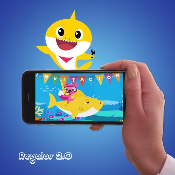 Tarjeta Video Invitacion Cumpleaños-baby Shark