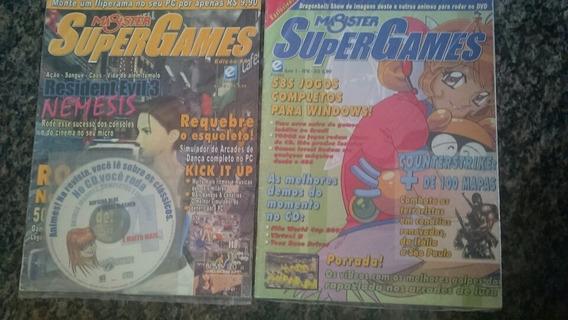 2 Revistas Magister Super Games 4 Com Cd E 6