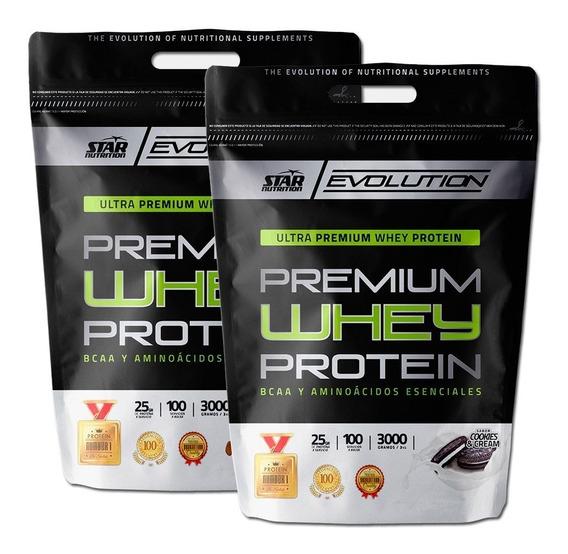 Premium Whey Protein Star Nutrition 2 Envases De 3 Kg