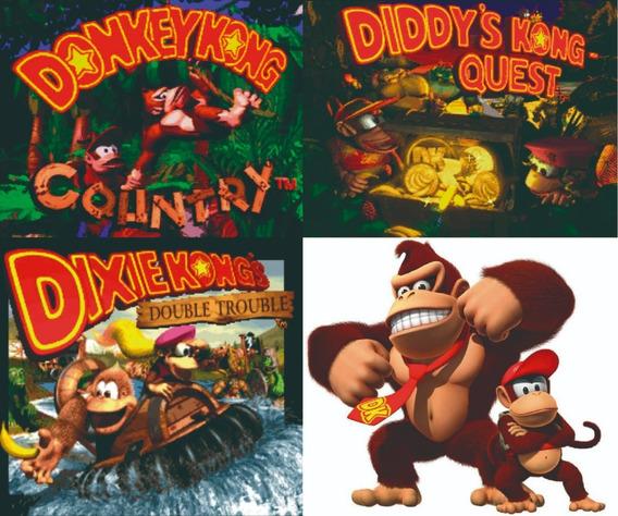 Donkey Kong Country 1 2 3 Para Computador / Pc