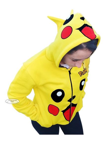 Pikachu Pokemon De Moda Sudadera Chamarra