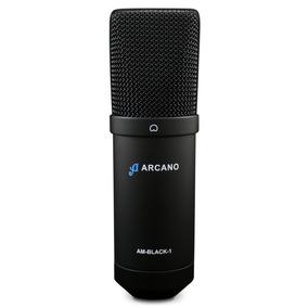 Microfone Usb Arcano Para Estúdio Am-black-1 Usb Completo