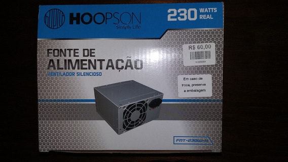 Fonte Atx 230w Real Hoopson