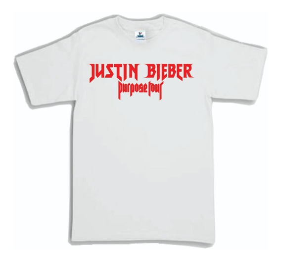 Playera Justin Bieber Logo Tour Hombre Mujer
