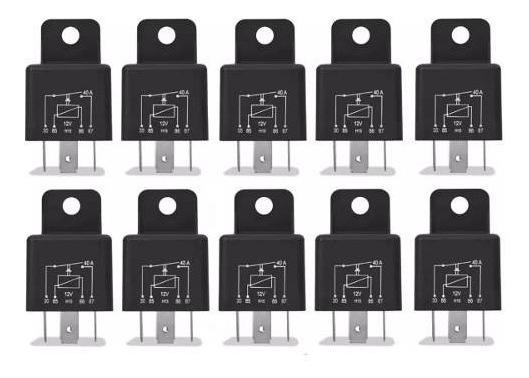 10 Relés Auxiliar Universal 4 Pinos 4 Vias