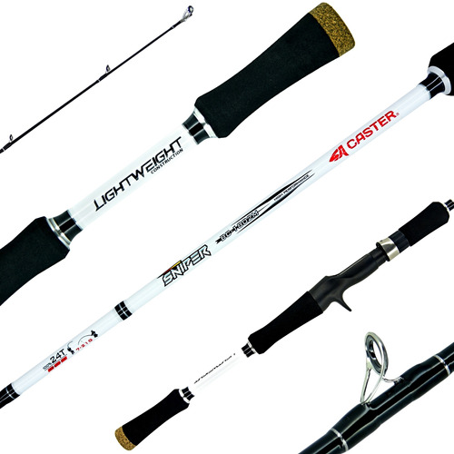 Caña Pescar Caster Sniper 1.80m Bait Casting Grafito 8-16 Lb