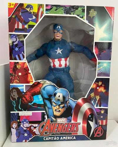 Boneco Capitão América Gigante Marvel Avengers  Novo