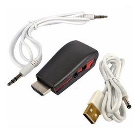 (kit)5x Adaptador Conversor Hdmi Vga +saída De Áudio P2 Hv01