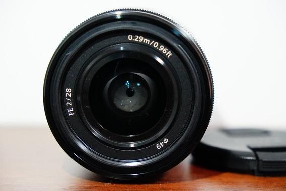 Sony Fe 28mm F2.0 Lente Full Frame Pra A7iii, A7rii, A6500