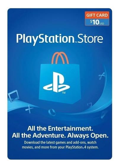 Tarjeta Playstation Network Store - 10 Dolares Psn