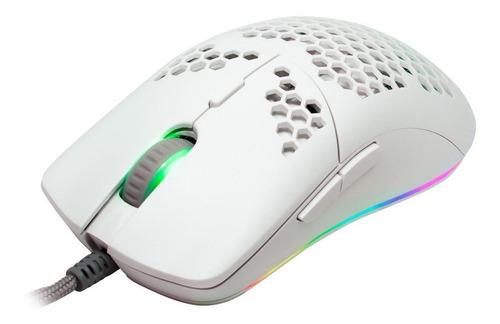 Imagen 1 de 2 de Mouse de juego Game Factor  MOG601 blanco