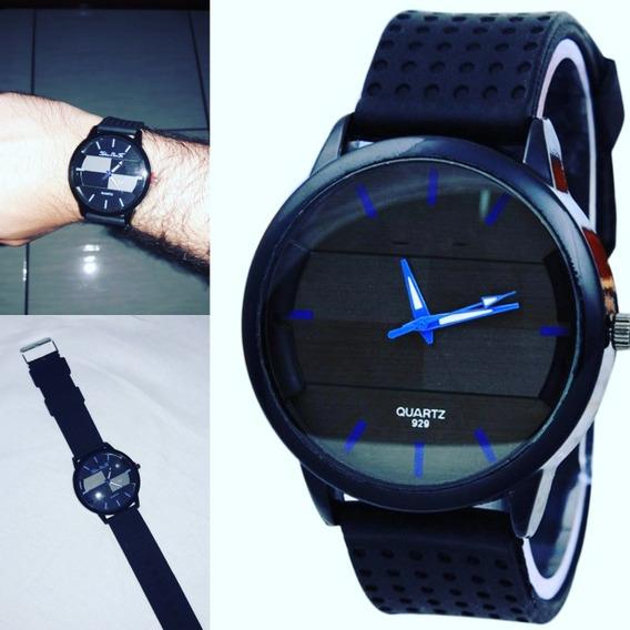 Relógio Analógico Black And Blue